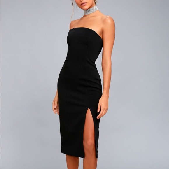 Finders keepers strapless dress with slit